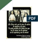 Oracion Del Angel, Fatima