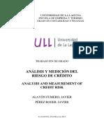 Analisis y Medicion Del Riesgo de Credito