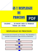 Analisis Despliegue Procesos II