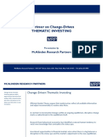 MRP Primer on Change Driven Thematic Investing