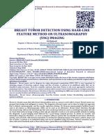 BREAST TUMOR DETECTION USING HAAR-LIKE FEATURE METHOD ON ULTRASONOGRAPHY (USG) IMAGING