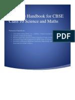 Formulae Handbook for CBSE Class 10 Science and Maths
