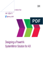 Designing a PowerHA SystemMirror Solution for AIX
