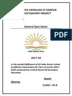 InvestigatoryProject Ayush Sharma