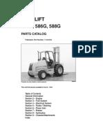 Case 585g 586g 588g Forklift