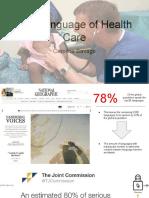 the language of health care  1