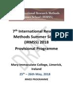 Draft Programme_7th International Research Methods Summer School_18.05.2018