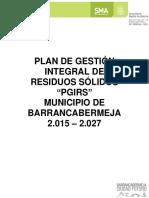 Plan de Gestión Integral de Residuos Sólidos 2015