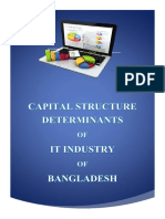 Term Paper on Capital Structure Determinants of IT Industry of Bangladesh