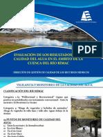 5. Evaluación de Los Resultados de La Calidad Del Agua en La Cuenca Del Rio Rimac