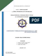 CONSTITUCIÓN Y FORMALIZACIÓN DE SMART TOOLS S.A.C. ANTE UNA ENTIDAD FINANCIERA