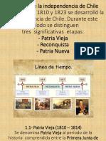 1.- HISTORIA Patria Vieja Reconquista Patria Nueva