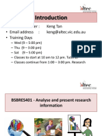 BSBRES401 - Analyse and Present Research Information