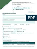 Anexo 13 Formulario de Indicación Elementos Para Apoyo Visual 2018