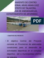Mejoramiento de Centro Recreacional Arias Aran Juez Del