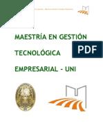 Maestria en Gestion Tecnologica Empresarial