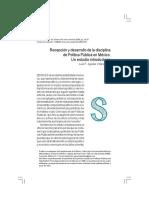 Recepción y Desarollo de La Disciplina Política Pública en México