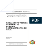 Reglamento Tecnico de Diseño de Plantas Potabilizadoras de Agua