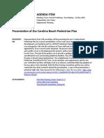 Agenda Item - Presentation of the Carolina Beach Pedestrian Plan - PDF