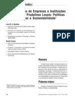 A Co-Evolução de Empresas e Instituições Em Arranjos Produtivos Locais Políticas Públicas e Sustentabilidade1