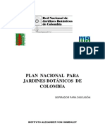 Plan Nacional de Jardines BotáNicos