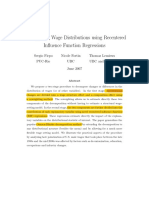 Decomposing Wage Distributions Using Recentered Influence Function Regressors Firpo Et Al