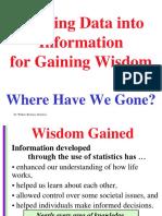 Statistics Wisdom Lecture