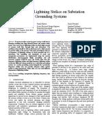 Impact of Lightning Strikes on Substation Grounding Systems