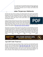 Agen Judi Casino Terpercaya Indonesia