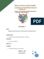 Informe 05 Normas e Instalación de Contactores