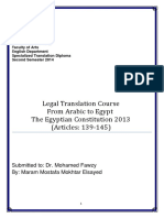 Legal translation from Arabic to English