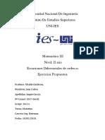 Universidad Nacional de Ingeniería Calculo III Resuelto ED de n Orden