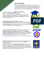 Partidos Políticos de Guatemal1
