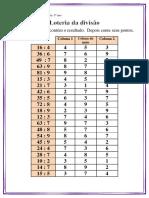 Loteria da Matemática - Divisão