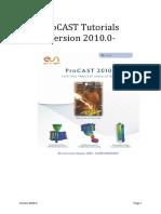 ProCAST20100 Tutorials