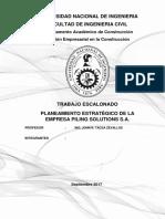 Planeamiento Estrategico de la empresa Piling Solution S.A.