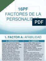 Factores Prueba 16pf
