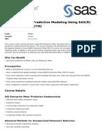 Advanced Predictive Modeling Using Sasr Enterprise Minertm
