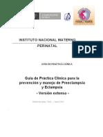 Guia Practica Clinica Preeclampsia Eclampsia Version Extensa