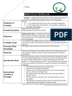 copy of lesson plan template and reflection