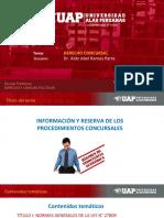 Informacion y Reserva de Los Procedimientos Concursales