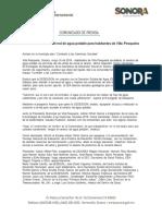 16/05/18 Habilitará SEDESSON red de agua potable para habitantes de Villa Pesqueira -C.051871