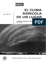 Clima Agricola de Un Lugar