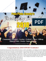 2018 Palo Pinto County Area Graduation Section