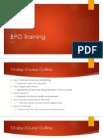 BPO Training