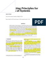 Architect Ing Principles of System of Systems Maier