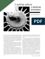 Gutierrez Sanchez, Jose Luis - Sociedad Politiaca Cultura y Sistemas Complejos