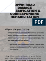 DPWH Road Damage Classification and Corresponding Rehabilitation