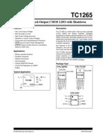 TC1265 Fixed-Output CMOS LDO With Shutdown