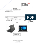 Cotizacion Laptop